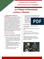 Manejo de Herramientas Eléctricas y Manuales