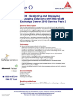 10233 Designing and Deploying Messaging Solutions With Microsoft Exchange Server 2010 Service Pack 2