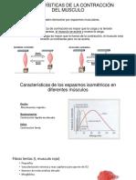 Características de La Contracción Del Musculo