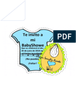 Invitacion Recortable Baby Shower Nino