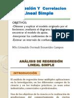 Regresión Lineal Simple.