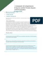 Fisiopatología y Tratamiento de La Hipertensión Intracraneal y La Hipoxia Cerebral Tissular Después de Una Lesión Cerebral Traumática Grave