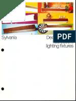 Sylvania Decorator Line Fluorescent Fixtures Brochure 5-67