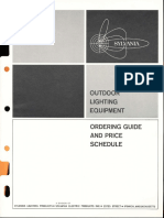 Sylvania Outdoor Lighting Equipment Ordering Guide & Price Schedule 10-65