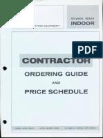 Sylvania Lighting Equipment Ordering Guide & Price Schedule Indoor 1-70