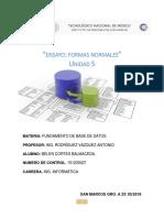 Fundamento de BD. Oscar Ensayo
