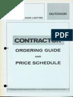 Sylvania Lighting Equipment Ordering Guide & Price Schedule Outdoor 12-72
