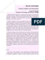 Social AttitudesFamily Tradition and Personality