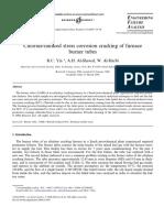 Chloride Induced Stress Corrosion Cracking of Furnace Burner Tubes