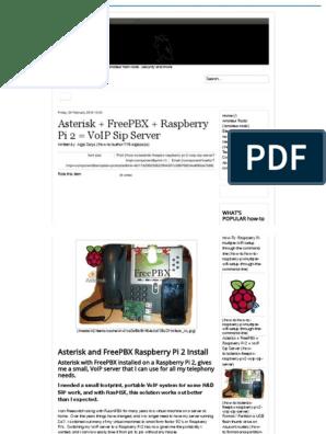 Asterisk + FreePBX + Raspberry Pi 2 = VoIP Sip Server pdf