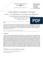 Failure Analysis of a Passenger Car Coil Spring