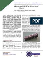Design & Development of SPM for Deburring of Sleeve