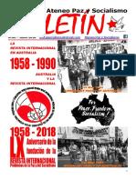 Boletin del Ateneo Paz y Socialismo de junio de 2018