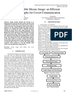 Secret Visible Mosaic Image an Efficient Steganography for Covert Communication