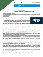 VETO Decreto 499/2018