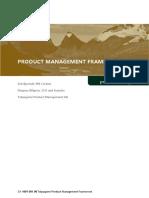 Product Management Framework White Paper