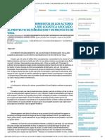 Documento Requerimientos de Los Actores y Necesidades de La Red Logistica Asociado Al Proyecto de Formacion y Mi Proyecto de Vida. - Documentos de Investigación