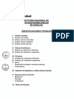 Petitorio Nacional de Ayudas Biomecanicas