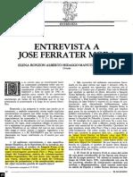 BASILISCO. Entrevista a José Ferrater Mora