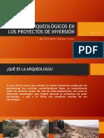 Estudios Arqueológicos en Los Proyectos de Inversión