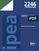 ESTIMATIVA DA POPULAÇÃO EM SITUAÇÃO DE RUA NO BRASIL