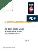 La Gestion Del Conocimiento en REPSOL. 2009
