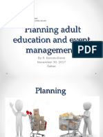 TAU Planning Adult Education and Event Management
