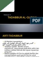 Tadabbur Al Qur'An