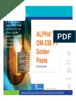 20120718 ALPHA OM338 PT Solder Paste Product Manual
