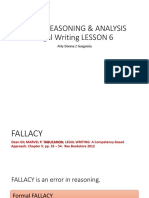 Legal Writing Lesson 6 - Legal Reasoning & Analysis Fallacy