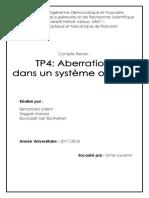TP Aberration Dans Un Système Optique