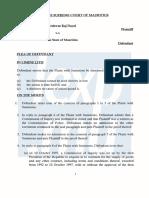 En exclusivité, les documents signés par l'avouée de l'Etat qui avait demandé le rejet pur et simple de la plainte de Dayal. Dans un souci de confort de lecture, nous annexons aussi à la fin de cet article les plaintes de Raj Dayal.