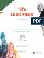 100 Leo President Cert