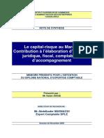 Résumé Du Mémoire Le Capital Risque Au Maroccontribution à Lélaboration Dun Cadre Juridique, Fisc