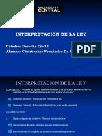 Interpretacion de La Ley