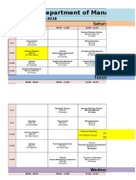 Spring-2018 Bs,Mba Time Table