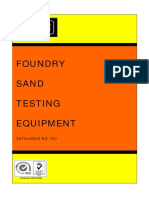 Foundary Sand and Testing Equipments