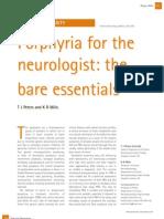 Porphyria for Neurologist