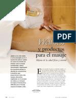 Wellness y productos para el masaje