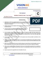 GS Prelims Test - 06 (Questions)