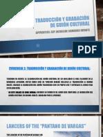 Evidence Guion Ingles Pantano de Vargas