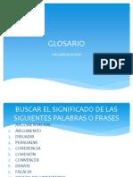 GLOSARIO ARGUMENTACION