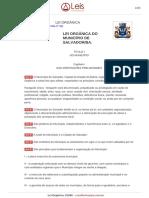 Lei Organica 1 1990 Salvador BA