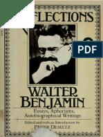 Benjamin, Walter - Reflections (HBJ, 1978)