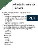 De La Administraţia Naţională La Administraţia Europeană