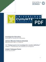1.3 Anteproyecto de Investigacion Valencia Adriana