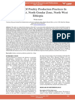 Assessment of Poultry Production Practices in Tegede District North Gondar Zone North West Ethiopia