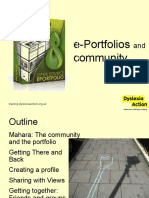 Portfolio and Community - Mahara Introduction