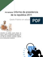 Análisis Informe de Presidencia de La República 2011