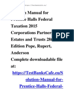 Solution Manual for Prentice Halls Federal Taxation 2015 Corporations Partnerships Estates and Trusts 28th Edition Pope, Rupert, Anderson